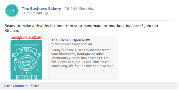 The Business Bakery Facebook Ad