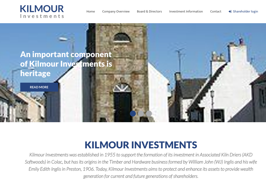Kilmour Investments Website
